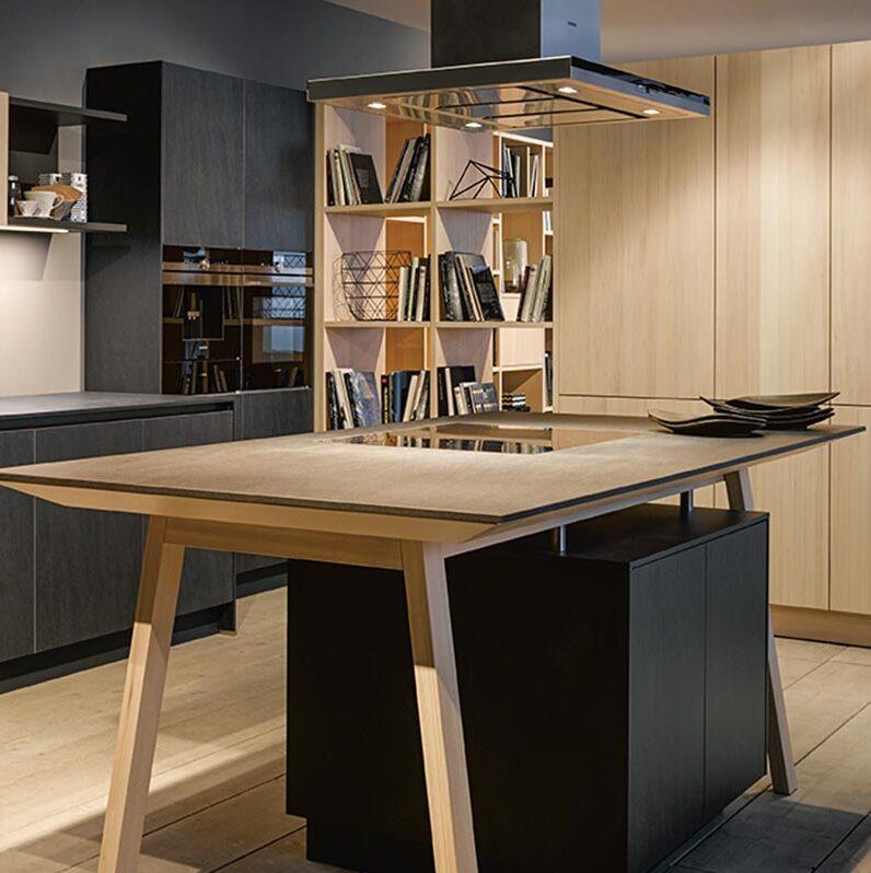 Open keuken met kooktafel