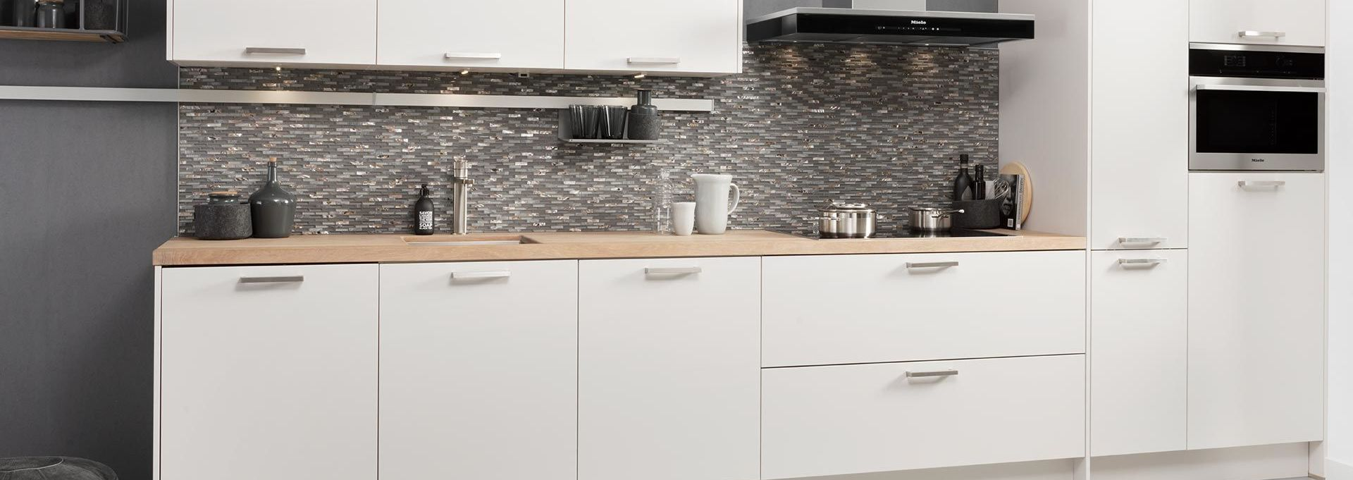 Wit keukenblok