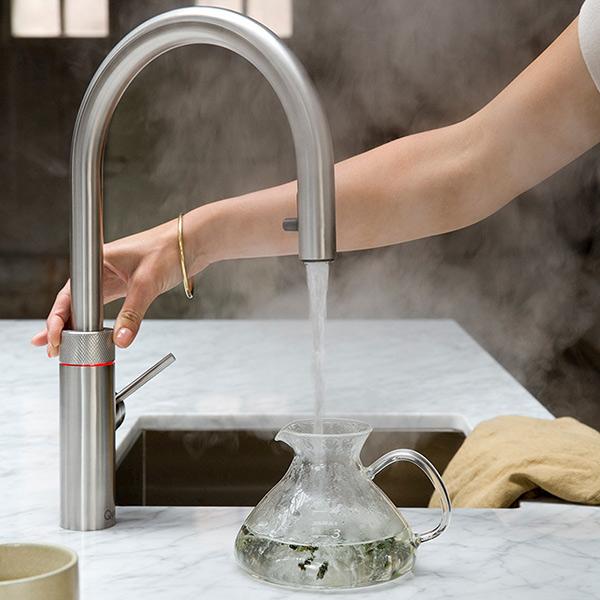Een kokend water kraan is veilig!